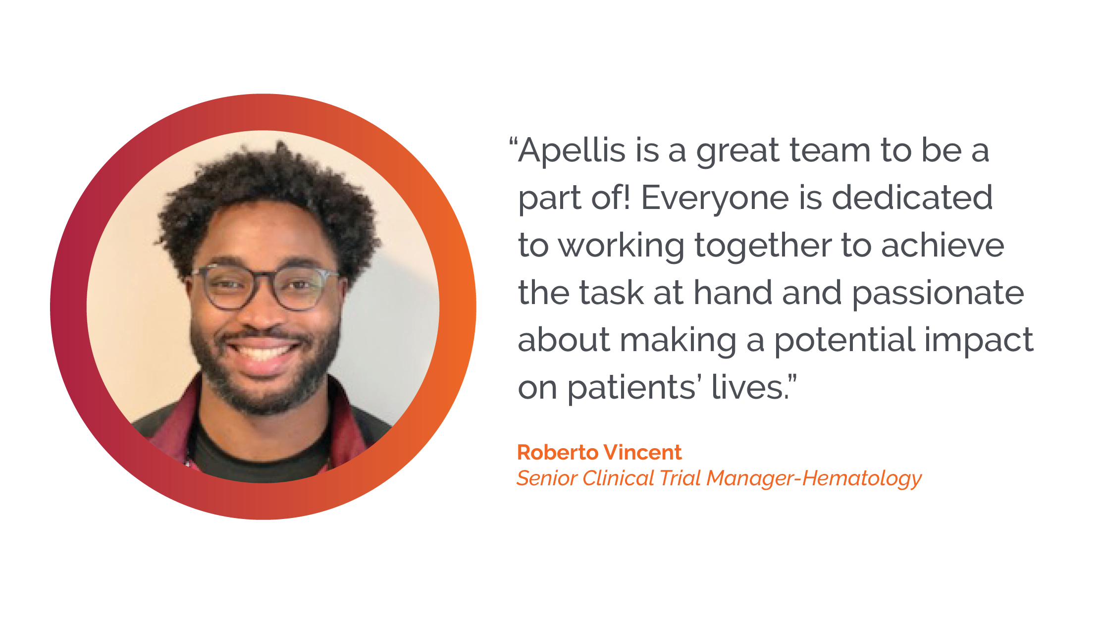 Apellis is a great team to be a part of - Roberto Vincent